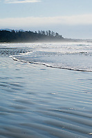 Long Beach on the West Coast of Vancouver Island lies peaceful between winter storms.