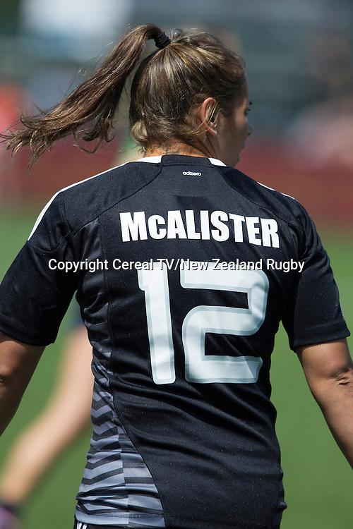 Kayla McAlister. NZ beat USA 43-7. IRB Women's Sevens World Series. Amsterdam, Netherlands, Friday 16 May 2014.