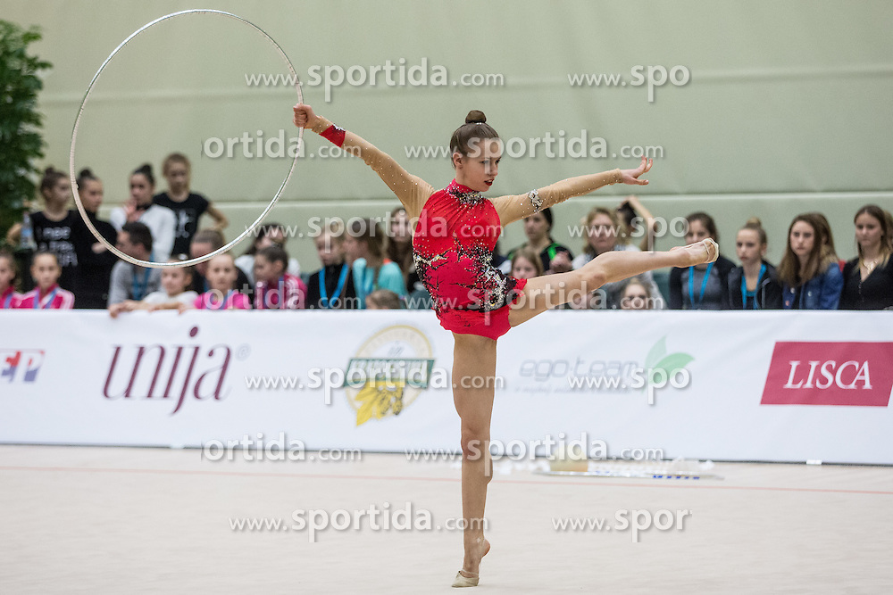 Gaspersic Iza of Slovenia competes during 29th MTM - International tournament in rhythmic gymnastics Ljubljana, on March 12, 2016 in gymnastics center Ljubljana, Ljubljana, Slovenia.  Photo by Grega Valancic / Sportida