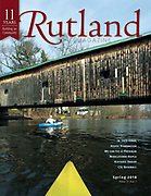 Paddling Vermont photo essay cover in Rutland Magazine