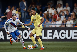 September 20, 2018 - Vila-Real, Castellon, Spain - Pablo Fornals (R) of Villarreal CF competes for the ball with Kyle Lafferty of Rangers during the UEFA Europa League group G match between Villarreal CF and Rangers at Estadio de la Ceramica on September 20, 2018 in Vila-real, Spain  (Credit Image: © David Aliaga/NurPhoto/ZUMA Press)