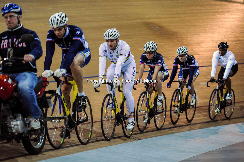 Equipe de France - 27.01.2015 -Entrainement Equipe de France de cyclisme su piste <br /> Photo : Anthony Dibon / Icon Sport
