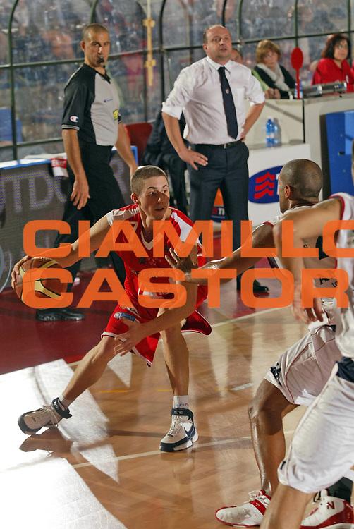 DESCRIZIONE : Biella Lega A1 2008-09 Angelico Biella Bancatercas Teramo<br /> GIOCATORE : Jaycee Carroll<br /> SQUADRA : Bancatercas Teramo<br /> EVENTO : Campionato Lega A1 2008-2009 <br /> GARA : Angelico Biella Bancatercas Teramo  <br /> DATA : 19/10/2008 <br /> CATEGORIA : Palleggio<br /> SPORT : Pallacanestro <br /> AUTORE : Agenzia Ciamillo-Castoria/E.Pozzo