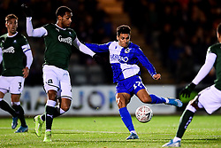 Tyler Smith of Bristol Rovers has a shot on goal - Mandatory by-line: Ryan Hiscott/JMP - 17/12/2019 - FOOTBALL - Home Park - Plymouth, England - Plymouth Argyle v Bristol Rovers - Emirates FA Cup second round replay
