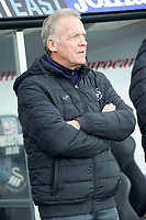 Football - 2016 / 2017 Premier League - Swansea City vs. AFC Bournemouth<br /> <br /> Swansea City caretaker manager Alan Curtis---, at the Liberty Stadium.<br /> <br /> COLORSPORT/WINSTON BYNORTH