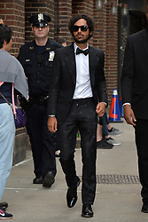 May 16, 2019 - New York, NY, USA - May 16, 2019 New York City..Kunal Nayyar arriving to tape an appearance on 'The Late Show with Stephen Colbert' on May 16, 2019 in New York City. (Credit Image: © Kristin Callahan/Ace Pictures via ZUMA Press)