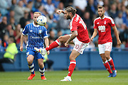 Nottingham Forest midfielder Henri Lansbury (10)  controls the ball during the EFL Sky Bet Championship match between Sheffield Wednesday and Nottingham Forest at Hillsborough, Sheffield, England on 24 September 2016. Photo by Simon Davies.