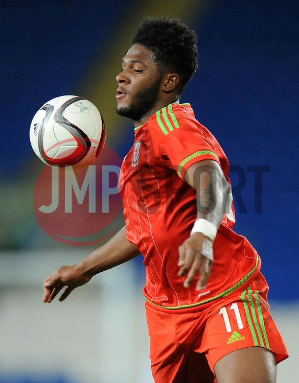 Ellis Harrison of Wales u21s (Bristol Rovers) - Photo mandatory by-line: Dougie Allward/JMP - Mobile: 07966 386802 - 31/03/2015 - SPORT - Football - Cardiff - Cardiff City Stadium - Wales v Bulgaria - U21s International Friendly