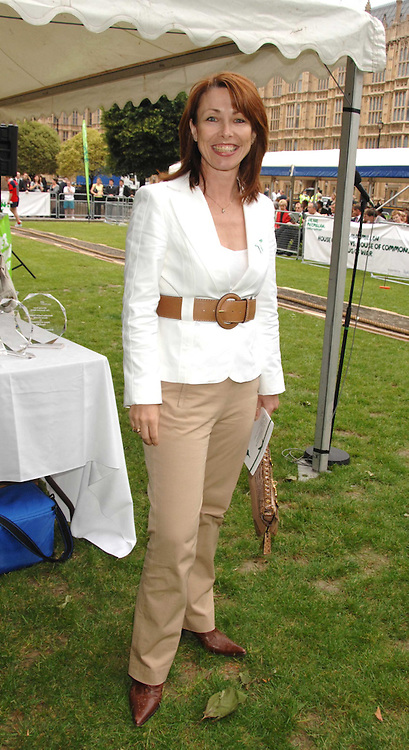 Presenter KAY BURLEY at the 20th annual House of Lords v House of Commons Tug of War in aid of Macmillan Cancer Support held on Abingdon Green, Westminster, London on 13th June 2007.<br />