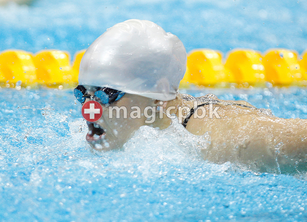 Emilia Pikkarainen of Finland competes in the women's 100m Butterfly Heats during the Swimming competition held at the Aquatics Center during the London 2012 Olympic Games in London, Great Britain, Saturday, July 28, 2012. (Photo by Patrick B. Kraemer / MAGICPBK)