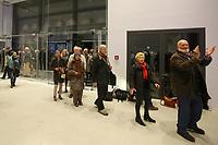 Mannheim. 15.12.17  <br /> Kunsthalle. Neubau. Nachtaufnahmen von Aussen mit der Mesh-Fassade. Er&ouml;ffnung<br /> <br /> Bild-ID 034   Markus Pro&szlig;witz 15DEC17 / masterpress