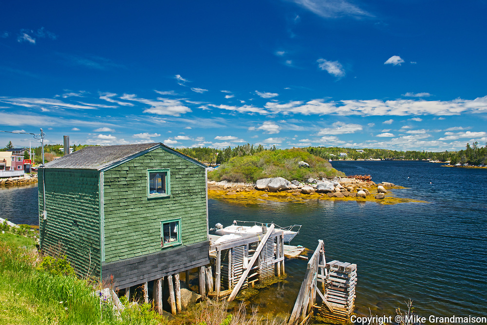 VFIshing village on the Atlantic Ocean, Blue Rocks, Nova Scotia, Canada