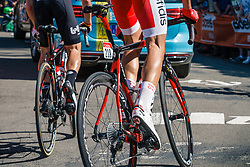 PEREZ Anthony of Cofidis, Solutions Crédits during 2nd lap on Mur de Huy at the 2018 La Flèche Wallonne race, Huy, Belgium, 18 April 2018, Photo by Thomas van Bracht / PelotonPhotos.com | All photos usage must carry mandatory copyright credit (Peloton Photos | Thomas van Bracht)