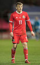 WREXHAM, WALES - Wednesday, March 20, 2019: Wales' George Thomas during an international friendly match between Wales and Trinidad and Tobago at the Racecourse Ground. (Pic by Laura Malkin/Propaganda)