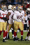 San Francisco 49ers defensive tackle Demetrius Cherry (69) jogs back to the sideline after recovering a fumble during the 2016 NFL preseason football game against the San Diego Chargers on Thursday, Sept. 1, 2016 in San Diego. The 49ers won the game 31-21. (©Paul Anthony Spinelli)