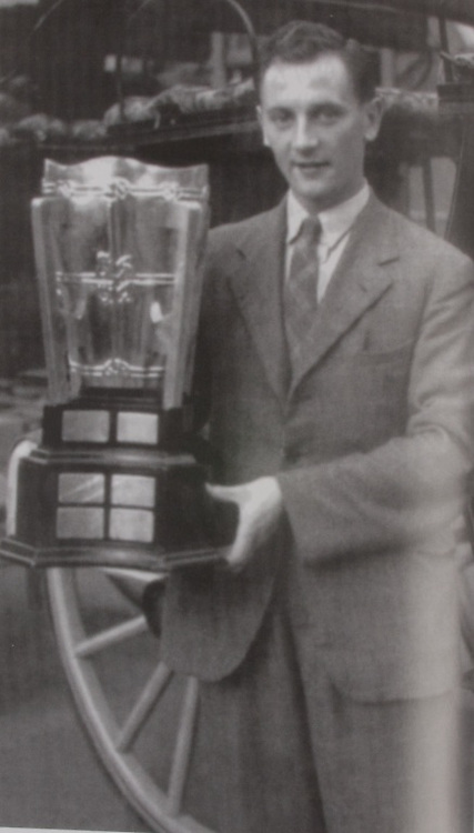 Jack Lynch with the McCarthy Cup. 1942.