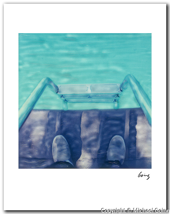 Pool Ladder & Feet 1999 Los Angeles. 11x14 signed archival pigment print