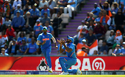 India's Vijay Shankar catches out Afghanistan's Gulbadin Naib during the ICC Cricket World Cup group stage match at the Hampshire Bowl, Southampton.