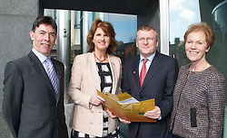 "FLAC: Need to learn from others' experience on personal insolvency law. - No fee for repro. -  Lensmen Photographic Agency..At a conference launched by Minister for Social Protection Joan Burton TD in Dublin this morning, legal rights organisation FLAC is bringing together Irish and international experts to share expertise and offer practical insights on the imminent reform of Ireland's outdated system of personal insolvency law...Pictured at the conference were;..Paul Joyce, FLAC Senior Policy Researcher; .Minister for Social Protection Joan Burton TD .Peter Ward SC, FLAC Chairperson; .Noeline Blackwell, FLAC Director General. ..The event is examining what the government must do to finally establish a clear and effective system for hard-pressed debtors, tackling such thorny issues as mortgage arrears and moral hazard. Academics, lawyers and economists are devoting the day to producing a range of international and domestic inputs that FLAC believes will improve the impending personal insolvency Bill, due to be published by the end of April. .""Ireland's legal system lacks a comprehensive structure for resolving the chronic indebtedness that has beset so many people arising out of the credit boom and subsequent recession,"" said Paul Joyce, Senior Policy Advisor with FLAC. ""The insolvency scheme presents an opportunity to put this right, but we must learn from the experience of other countries."".""FLAC sees this event as an opportunity to identify trends and developments in international best practice. While the domestic speakers examine the constitutional and economic implications of debt settlement legislation, the international speakers will reveal how other countries have tackled personal debt crises,"" commented FLAC Director General Noeline Blackwell..Amongst the issues tackled by US Professor Jason Kilborn in his comprehensive overview of consumer insolvency systems around the world is the topical question of moral hazard. There is also a particular focus on how t"