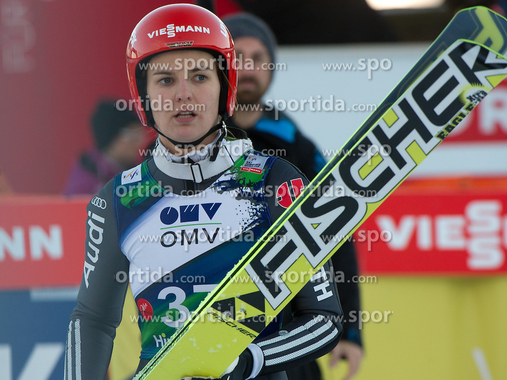 01.02.2014, Energie AG Skisprung Arena, Hinzenbach, AUT, FIS Ski Sprung, FIS Ski Jumping World Cup Ladies, Hinzenbach, Wettkampf im Bild #37 Ulrike Grässler (GER) // during FIS Ski Jumping World Cup Ladies at the Energie AG Skisprung Arena, Hinzenbach, Austria on 2014/02/01. EXPA Pictures © 2014, PhotoCredit: EXPA/ Reinhard Eisenbauer