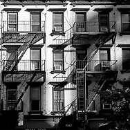 Fire escapes in Midtown Manhattan, New York City