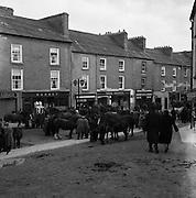 Ballinasloe Horse Fair, Co. Galway. 25/04/1957.