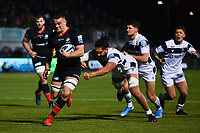 Rugby Union - 2019 / 2020 Gallagher Premiership - Saracens vs. Bristol Bears<br /> <br /> Saracens' Ben Earl scores his sides fourth try, at Allianz Park.<br /> <br /> COLORSPORT/ASHLEY WESTERN