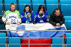 The fans of Slovenia during ice hockey match between South Korea and Slovenia at IIHF World Championship DIV. I Group A Kazakhstan 2019, on April 30, 2019 in Barys Arena, Nur-Sultan, Kazakhstan. Photo by Matic Klansek Velej / Sportida