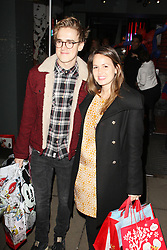 Tom Fletcher & Giovanna Falcone, Disney Store - Christmas Party, Oxford Street, London UK, November 06 2013 (Photo by Brett D. Cove) © Licensed to London News Pictures.  Photo credit : Brett D. Cove/Piqtured/LNP