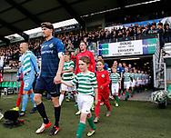 FODBOLD: Spillerne går på banen, anført af Andreas Holm (FC Helsingør) før playoff-kampen til ALKA Superligaen mellem Viborg FF og FC Helsingør den 4. juni 2017 på Energi Viborg Arena. Foto: Claus Birch