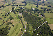 aerial photograph of  Haigh Hall  Wigan Lancashire England UK