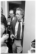 MORDECAI RICHLER.  PARTY GIVEN FOR MORDECAI RICHLER BY SONNY AND GITA MEHTA. MANHATTAN, 1990.<br /> <br /> SUPPLIED FOR ONE-TIME USE ONLY&gt; DO NOT ARCHIVE. &copy; Copyright Photograph by Dafydd Jones 248 Clapham Rd.  London SW90PZ Tel 020 7820 0771 www.dafjones.com
