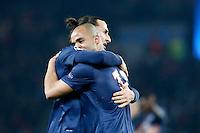 FOOTBALL - CHAMPIONS LEAGUE 2012/2013 PSG VS ZAGREB - 06/11/2012 - ZLATAN IBRAHIMOVIC (PARIS SAINT-GERMAIN), ALEX (PARIS SAINT-GERMAIN)