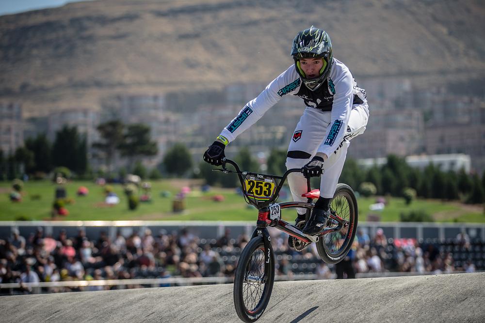 16 Boys #253 (WAKELIN Tasman) NZL at the 2018 UCI BMX World Championships in Baku, Azerbaijan.