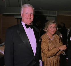 SIR JOCELYN STEVENS and MRS VIVIEN DUFFIELD the multi millionaire arts benefactor, at a reception in London on 30th September 1997.MBT 111 2OLO