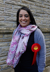 © Licensed to London News Pictures. 07/05/2015. Bradford, West Yorkshire.  Labour candidate for Bradford West Naz Shah. Photo credit : Paul Thompson/LNP