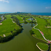 Hilton Golf Course from the air.<br />