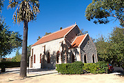 Protestant church in the Barrio de Bella Vista the ´English colony´ housing area built for British mine management and engineers in the nineteenth century, Rio Tinto mining area, Huelva province, Spain