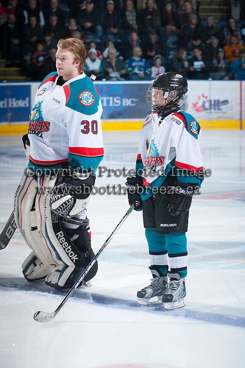 KELOWNA, CANADA - JANUARY 26:  Prince Albert Raiders at the Kelowna Rockets on January 26, 2013 at Prospera Place in Kelowna, British Columbia, Canada (Photo by Marissa Baecker/Shoot the Breeze) *** Local Caption ***