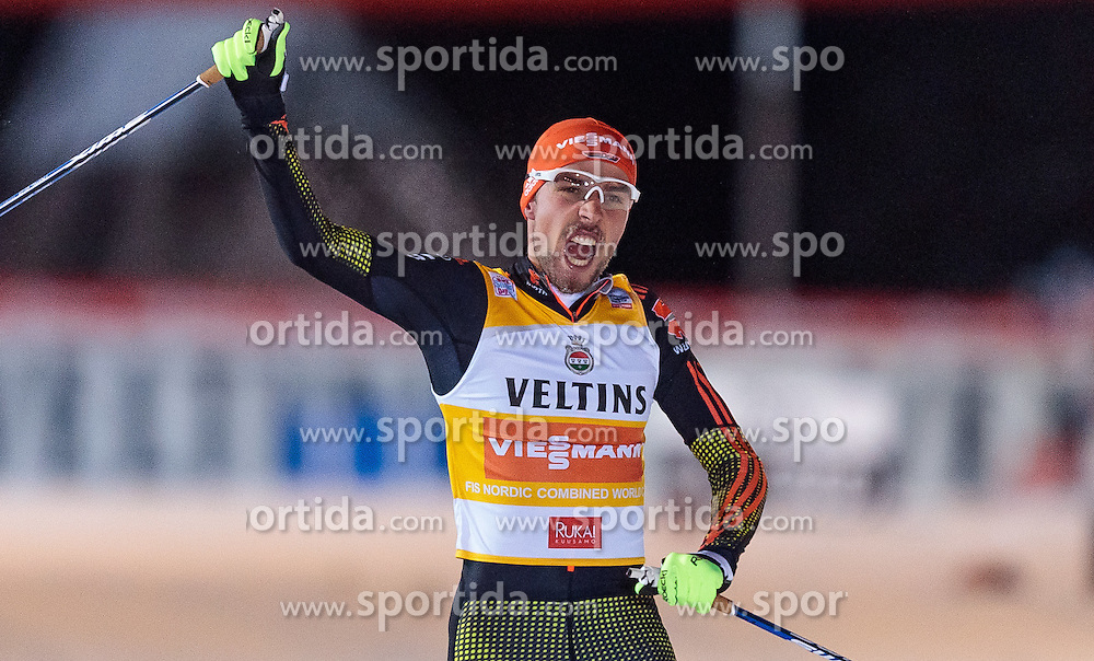 27.11.2016, Nordic Arena, Ruka, FIN, FIS Weltcup Nordische Kombination, Nordic Opening, Kuusamo, Langlauf, im Bild Sieger Johannes Rydzek (GER) // Winner Johannes Rydzek of Germany during Cross Country of the FIS Nordic Combined World Cup of the Nordic Opening at the Nordic Arena in Ruka, Finland on 2016/11/27. EXPA Pictures © 2016, PhotoCredit: EXPA/ JFK