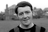 Jim Weatherup, footballer, Glentoran FC, Belfast, N Ireland, UK, August, 1970, 197008000279<br /> <br /> Copyright Image from Victor Patterson,<br /> 54 Dorchester Park, Belfast, UK, BT9 6RJ<br /> <br /> t1: +44 28 90661296<br /> t2: +44 28 90022446<br /> m: +44 7802 353836<br /> <br /> e1: victorpatterson@me.com<br /> e2: victorpatterson@gmail.com<br /> <br /> For my Terms and Conditions of Use go to<br /> www.victorpatterson.com