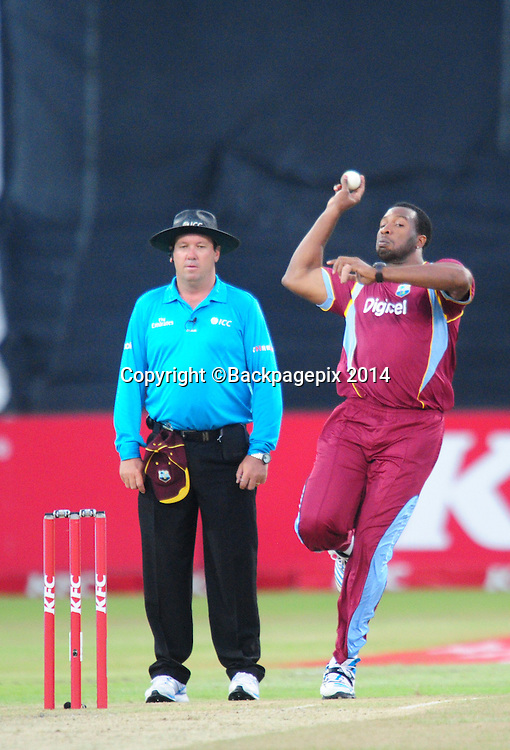 Kieron Pollard , West Indies during the 2015 KFC T20 International Series cricket match between South Africa and West Indies at the Kingsmead Stadium in Durban on the 14th of January 2015<br /> <br /> &copy;Sabelo Mngoma/BackpagePix