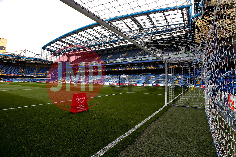 A general view of Stamford Bridge, home to Chelsea - Mandatory by-line: Robbie Stephenson/JMP - 18/04/2019 - FOOTBALL - Stamford Bridge - London, England - Chelsea v Slavia Prague - UEFA Europa League Quarter Final 2nd Leg