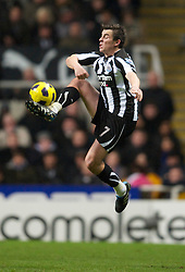 NEWCASTLE, ENGLAND - Saturday, December 11, 2010: Newcastle United's Joey Barton in action against Liverpool during the Premiership match at St James' Park. (Photo by: David Rawcliffe/Propaganda)