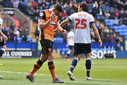 Hull City Midfielder, Robert Snodgrass walks away after missing a shot during the Sky Bet Championship match between Bolton Wanderers and Hull City at the Macron Stadium, Bolton, England on 30 April 2016. Photo by Mark Pollitt.
