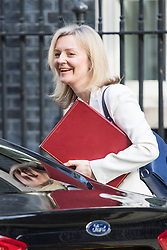 Downing Street, London, April 12th 2016. Environment Food and Rural Affairs Secretary Elizabeth Truss arrives at the weekly cabinet meeting. &copy;Paul Davey<br /> FOR LICENCING CONTACT: Paul Davey +44 (0) 7966 016 296 paul@pauldaveycreative.co.uk