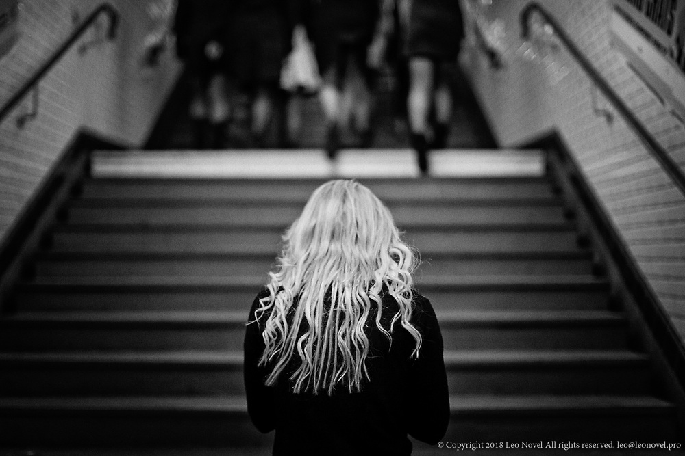 Inna Shevchenko, after a protest in Parisian subway