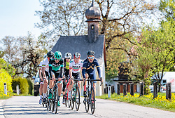 25.04.2018, Angerberg, AUT, ÖRV Trainingslager, UCI Straßenrad WM 2018, im Bild v.l.: Patrick Konrad (AUT), Gregor Mühlberger (AUT), Stefan Denifl (AUT) // during a Testdrive for the UCI Road World Championships in ANGERBERG, Austria on 2018/04/25. EXPA Pictures © 2018, PhotoCredit: EXPA/ JFK