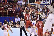 DESCRIZIONE : Milano Lega A 2014-15 <br /> EA7 Olimpia Milano - Acea Virtus Roma <br /> GIOCATORE : Nicolo Melli<br /> CATEGORIA : controcampo tiro tecnica equilibrio <br /> SQUADRA : EA7 Olimpia Milano<br /> EVENTO : Campionato Lega A 2014-2015 <br /> GARA : EA7 Olimpia Milano - Acea Virtus Roma<br /> DATA : 12/04/2015<br /> SPORT : Pallacanestro <br /> AUTORE : Agenzia Ciamillo-Castoria/GiulioCiamillo<br /> Galleria : Lega Basket A 2014-2015  <br /> Fotonotizia : Milano Lega A 2014-15 EA7 Olimpia Milano - Acea Virtus Roma