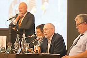 Micheál Ó Riabhaigh  Chairman speaking  at the Fleadh  Cheoil na hÉireann Inis 2016 information evening at Treacy's West County Hotel on Thursday evening. Photograph by Eamon Ward